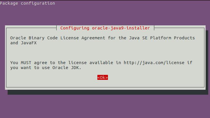 принятие лицензии Oracle