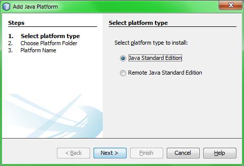 добавление Java Platform