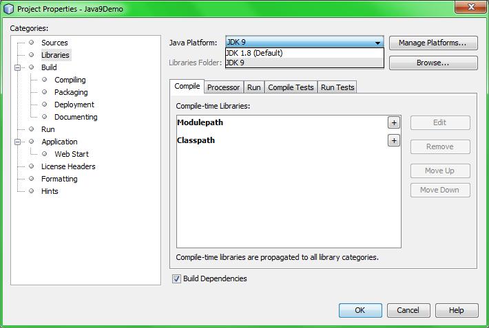 Переключение Java платформы